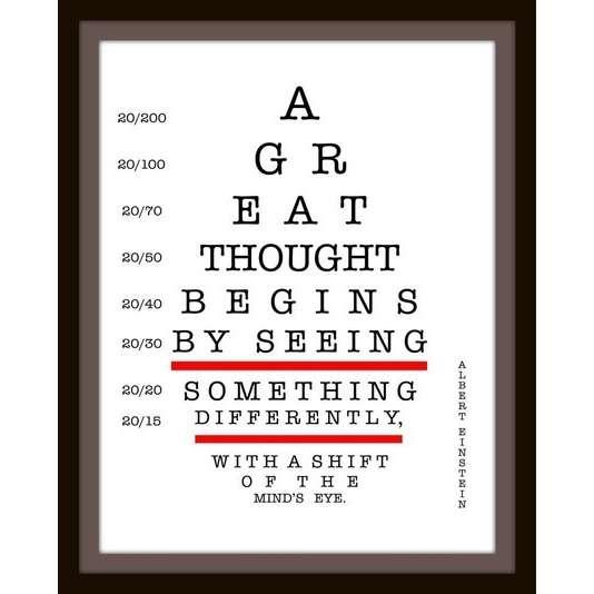 Eye-chart- Einstein quote