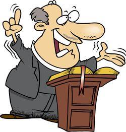Preaching; cartoon