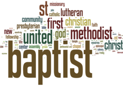 Church name wordle
