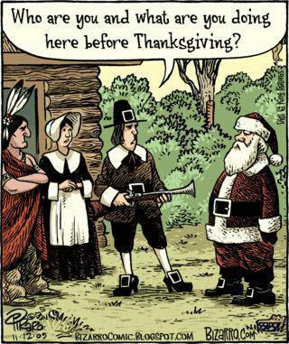 Santa at Thanksgiving