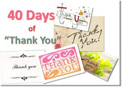 40 Days of Thank You