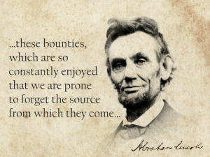 Lincoln; Thanksgiving Proclamation