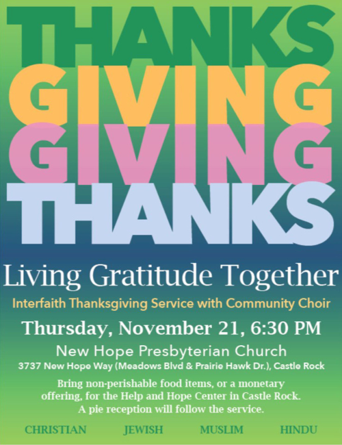 Thanksgiving Interfaith service 2019