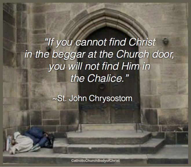 Chrysostom; on-beggars